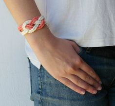 Knot bracelet Rope bracelet Summer bracelet Navy by AMEjewels