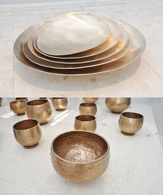 White Noise | Korea exhibit | Salone del Mobile | Milan Design Week 2014 | Triennale Design Museum | Korea, Constancy and Change | Craftscurator report for PantoneView | Hand Beaten Brass Bowls | Lee Gyoung-dong | Photo Craftscurator |