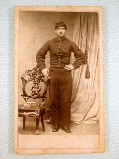 Antique CDV Photograph Civil War Soldier in Uniform
