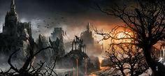 dark castle pictures free for desktop - dark castle category Fantasy World, Dark Fantasy, Fantasy Art, Fantasy Castle, Fairytale Castle, Grim Fairy Tales, Castle Tattoo, Goth Wallpaper, Dark Castle