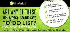 todo list, skinni wrap, body wraps, summer list, bikini ready, messag, workout fitness, boxes, crazi wrap