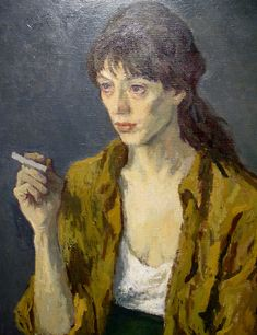 Moses Soyer (Russian-born American, Girl with a Cigarette, 1968 Figure Painting, Painting & Drawing, Painter Artist, Art Studies, New Artists, American Artists, Figurative Art, Female Art, Art Inspo