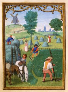 July: Making Hay | Da Costa Hours, in Latin | Illuminated by Simon Bening (1483/84–1561) | Belgium, Bruges | ca. 1515 | The Morgan Library & Museum