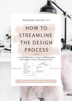 A streamlined branding process will save you your sanity and lots of wasted time! I know what it is like to know how to design, but when I first started out as a freelance graphic designer, I didn't have a process.