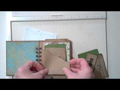 """Tutorial  for Mini book w/pockets and flip out pages using 8.5 x 11"""" cardstock. I like  her method of making pockets from a quarter sheet of cardstock."""