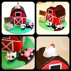 Farm themed smash cake http://instagram.com/wellkneadedbakery