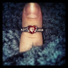 Cute heart-shaped Diamond Candles ring