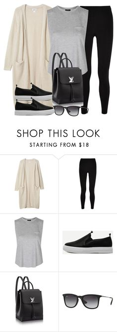 """Style #11519"" by vany-alvarado ❤ liked on Polyvore featuring Monki, T By Alexander Wang, Topshop and Ray-Ban"
