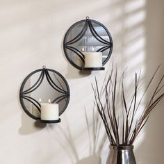 Better Homes and Gardens Geometric Mirror Sconces - Set of 2 - G57617WCM