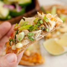 Thai Chicken Pizza - a delicious way to use leftover chicken