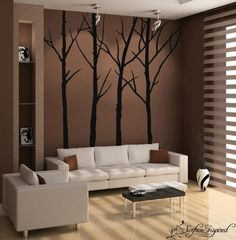 These beautiful winter tree decals are fully customizable and you get 4 tree decals in total! The branches come separate so you can create your own composition, just the way you want it :)    Sizes:    46 x 96  23 x 96  38 x 96  48 x 96    ***Free trunk extensions***  Well extend your tree trunks to 104 or 116 at no extra charge! Just mention your ideal height in the message box to seller :)    C O L O R S    You may choose one color for this design:  1 color for all the trees and branches…