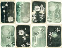 Black Friday Sale through Dec 1st! use coupon code 88SALE  Set of eight original monoprints. The perfect solution for instant décor in your library or