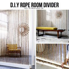 DIY Rope room divider