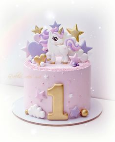 1st Birthday Cake For Girls, Baby Birthday Cakes, Cake Decorating Frosting, Creative Cake Decorating, Anniversaire Hello Kitty, Gateau Baby Shower, Birtday Cake, Cake Templates, Baby Girl Cakes