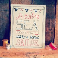 This baby is now in my shop! #etsy #nautical #illustration #sailor - @ellolovey | Webstagram