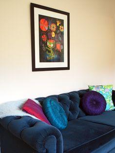 I must find a blue velvet sofa. Must.