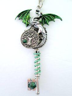 Dragon Necklace. Dragon Pendant. Tree of by MoonbeamsAndMagick
