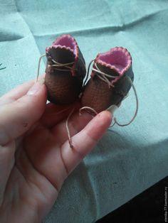 Создание миниатюрных ботиночек для куклы или мишки - Ярмарка Мастеров - ручная работа, handmade