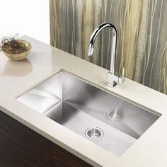 Kitchen Sink Remodel Blanco 515820 - Satin Precision Single Basin Stainless Steel Kitchen Sink with Zero Radius Corners x Steel Kitchen Sink, Kitchen Sink Design, Single Bowl Kitchen Sink, Kitchen Sink Faucets, Granite Kitchen, Stainless Steel Kitchen, Kitchen Countertops, New Kitchen, Kitchen Ideas