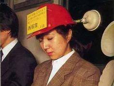 Perfect subway riding head gear!