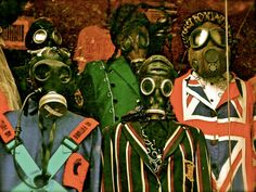 NYC Colorful Gas Mask Characters - Digital Art Print - 6 x 8 Metallic Paper on Etsy, $20.00