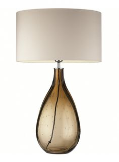 Lily Garnet Table Lamp   Free blown by master craftsmen in melted coloured glass with a pip effect – each table lamp will be individual.