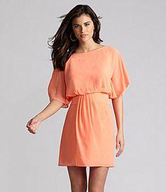 ShopStyle: Gianni Bini Layla Flutter-Sleeve Dress