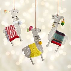 Paper Llama with Blanket Ornaments | Crate and Barrel