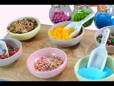 DIY Candy Sprinkles! 7 DIY Sprinkle Hacks for Cakes & Cupcakes! By My Cupcake Addiction - YouTube