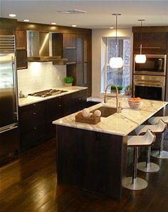 Kitchen with dark wood floors and white cabinets  Description from  pinterest com  IDark kitchen cabinets with dark hardwood floors   Kitchen  . Dark Wood Floor Kitchen. Home Design Ideas