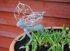 Nifi - Fairy Sculpture, chicken wire sculpture for the garden. Indoor sculpture on Etsy, $262.88