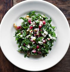 Tabbouleh With Apples, Walnuts and Pomegranates