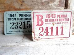 I collect Old Hunting Licenses