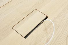 Collection :: Home :: Cable management & electrification :: Cable Management Overview Leaf Table, Diy Table, Desk Grommet, Cable Grommet, Smart Office, Smart Desk, Flat Interior, Interior Design, My Workspace