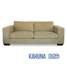 White Leather Sofa The Sofa Company features over custom furniture styles like the Kahuna Sofas in our Los Angeles Furniture store showrooms