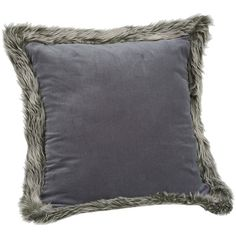 Gray Velvet Faux Fur Pillow ($23) ❤ liked on Polyvore featuring home, home decor, throw pillows, grey accent pillows, gray accent pillows, grey toss pillows, gray home decor and gray throw pillows