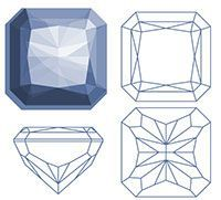 Gem Drawing, Diamond Drawing, Crystal Drawing, Jewelry Design Drawing, Elements And Principles, Jewelry Illustration, Jewellery Sketches, Drawing Projects, Minerals And Gemstones
