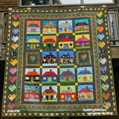 SplittingStitches: Houses, I love house quilts!!