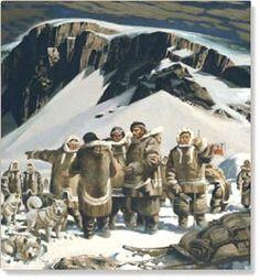 Dr. John Rae at Repulse Bay, 1846 by Charles Fraser Comfort, 1932 | HBC