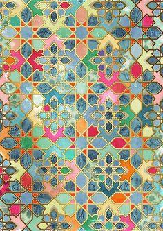 PATTERN COLOR Tile artwork Morocco Home Deco Artwork Color Morocco painted floor tiles bathroom pattern tile Tile Patterns, Pattern Art, Textures Patterns, Islamic Art Pattern, Patchwork Patterns, Zentangle Patterns, Pattern Design, Hexagon Patchwork, Arabic Pattern