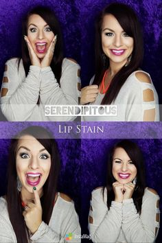 Literally in LOVE with the Serendipitous Lip Stain.  Try it & you will be THIS excited too! https://multibra.in/6x38n #Serendipitous #LipStain