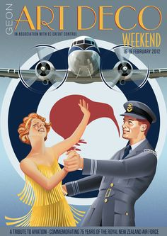 Art Deco Weekend Posters by Stephen Fuller in Art Deco Design Inspiration: Part 1