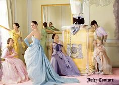 Tim Walker for Juicy Couture:  Clearly inspired by Cecil Beaton, with a bit of punk thrown in for good measure