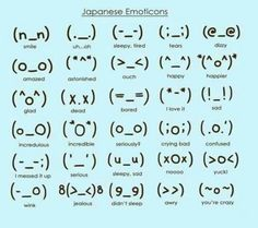 Japanese Emoticons.
