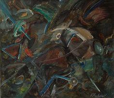 ELEMENTS / Dimensions : 110 cm x 95 cm / Techniques de réalisation : Huile / Date de création : 1988 / Support : Toile / Tarif : http://www.art-acquisition.com/fr/content/elements
