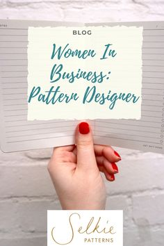 We interview female founder Nina Lee, on running two different businesses. #selkiepatterns #femalefounder Dress Making Patterns, Textile Design, Dressmaking, Business Women, Lounge Wear, Designer, Blog, Place Card Holders, Textiles