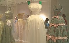 Queen Elizabeth's gowns on display at Kensington Palace.