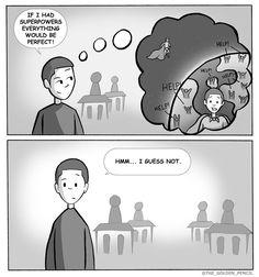 """Schooltime Daydreams""  #daydreaming #teen #superhero #savetheworld #powerful #bereal"