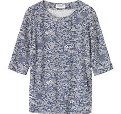 Another lovely unusual print. This top would slot perfectly into your wardrobe and as it's made from viscose it is super comfortable too.