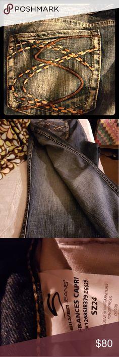 Silver BBW Capris Soft lovingly worn. Lightened by design. Frances Style. Silver Jeans Pants Capris